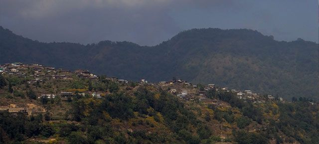 View of a Nagaland Village
