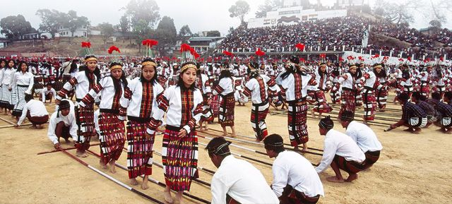 Mizo Girls performing Bamboo Dance