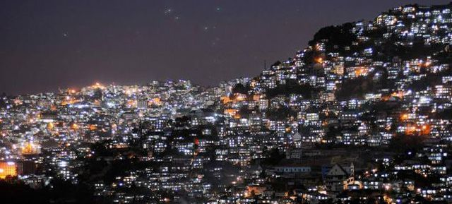 Aizawl - the capital city of Mizoram