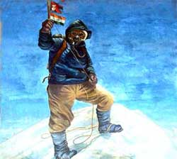 Tenzing norgey on top of everest
