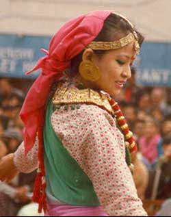 gorkha girl in festival
