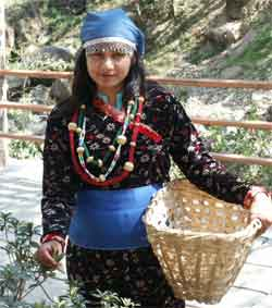 Girl dressed as Nepali