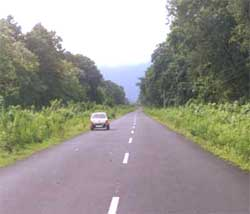 The road to Alipurduar