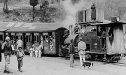 The toy train in a archived picutre