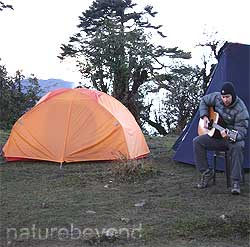 Tents during trek